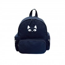 Cute Black Cat School Bag Children's Backpack Camping Travel Canvas Backpacks