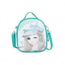 Children School Bag Cute Travel Shoulder Bag Kids Backpack Purses Green Princess