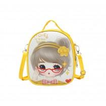 Children School Bag Cute Travel Shoulder Bag Kid Backpack Purses Yellow Princess
