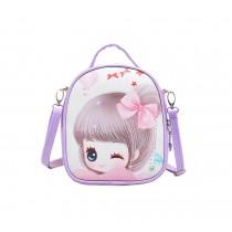 Children School Bag Cute Travel Shoulder Bag Kid Backpack Purses Purple Princess