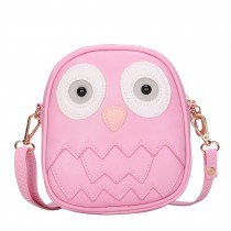 Cute Owl Children Travel Shoulder Bag Kids Backpack Purses School Bag Pink