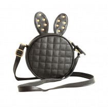 Rivets Rabbit Children Travel Shoulder Bag Kids Backpack Purses School Bag Black