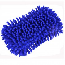 Sponge With Scrubber, Perfect For Car, Set Of 2, Royalblue