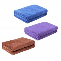 Multifunctional Microfiber Cleaning Cloths, Set of 3, Blue/Purple/Brown