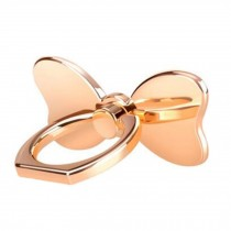 Creative Bow Shape  Ring Phone Holder/Stand For Most of Smartphones, Gold