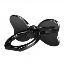 Creative Bow Shape  Ring Phone Holder/Stand For Most of Smartphones, Black