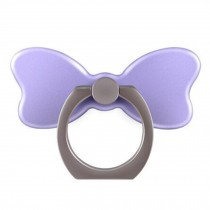 Creative Bow Shape  Ring Phone Holder/Stand For Most of Smartphones, Purple