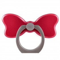 Creative Bow Shape  Ring Phone Holder/Stand For Most of Smartphones, Red