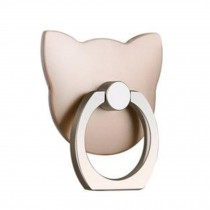 Cute Cat Shape  Ring Phone Holder/Stand For Most of Smartphones, Gold