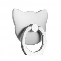 Cute Cat Shape  Ring Phone Holder/Stand For Most of Smartphones, Silver
