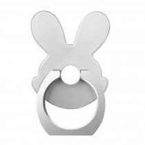 Lovely Rabbit Shape  Ring Phone Holder/Stand For Most of Smartphones, Silver