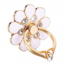Beautiful Flower Shape  Ring Phone Holder/Stand For Most of Smartphones, White