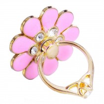 Beautiful Flower Shape  Ring Phone Holder/Stand For Most of Smartphones, Pink