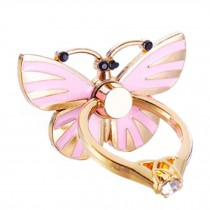 Beautiful Butterfly Shape  Ring Phone Holder/Stand For Most of Smartphones, Pink
