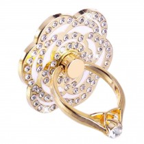 Beautiful Flower Shape  Ring Phone Holder/Stand For Most of Smartphones, Rhinestones