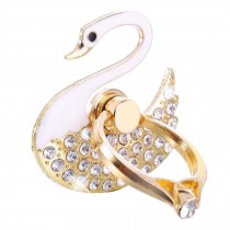Beautiful Swan Shape  Ring Phone Holder/Stand For Most of Smartphones, White