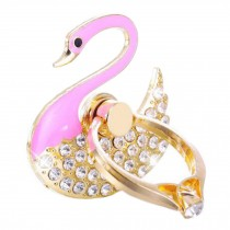 Beautiful Swan Shape  Ring Phone Holder/Stand For Most of Smartphones, Pink
