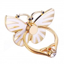 Beautiful Butterfly Shape  Ring Phone Holder/Stand For Most of Smartphones, White