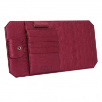 High Quality PU Leather Car Auto Visor Organizer CD/DVD Holder Case, Purple