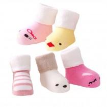 5 Pairs of Cozy Cartoon Designer Unisex-Baby Cotton Socks,  1-3 years