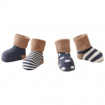 5 Pairs of Cozy Baby Products  Unisex Baby Cotton Socks,  1-3 years