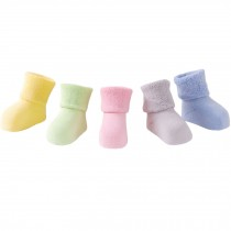 5 Pairs of Cozy Soft Baby Products  Unisex  Durable Baby  Cotton Socks,  1-3 years