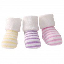 5 Pairs of Cozy Soft Baby Products  Stripe Unisex  Durable Baby  Cotton  Socks,  1-3 years