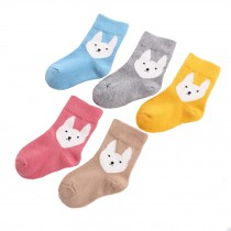 5 Pairs of Cozy Soft Kids Products Comfortable Wear Unisex  Durable Cotton  Socks, rabbit?? 2-3 years