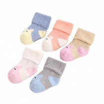 5 Pairs of Soft Socks Creative Wear Durable Cotton Socks (2-3 years) Heartwarming Baby Gifts