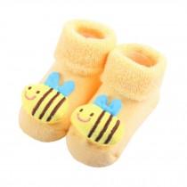 2 Pairs of Cozy Designer Unisex-Baby Cotton Socks Baby Gifts , Bee