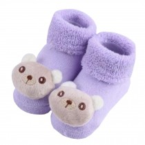 2 Pairs of Cozy Designer Unisex-Baby Cotton Socks Baby Gifts ,  bear