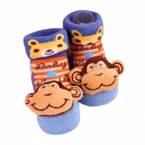 2 Pairs of Cozy  Baby Cotton Socks Baby Gifts Comfortable Socks Heartwarming Baby Gifts,  monkey