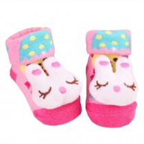 2 Pairs of Cozy  Baby Cotton Socks Baby Gifts Comfortable Socks Heartwarming Baby Gifts,  rabbit