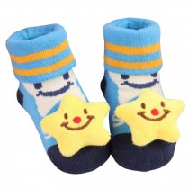 2 Pairs of Cozy  Baby Cotton Socks Baby Gifts Comfortable Socks Heartwarming Baby Gifts,  cute star