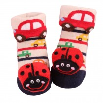 2 Pairs of Cozy  Baby Cotton Socks Baby Gifts Comfortable Socks Heartwarming Baby Gifts,ladybug