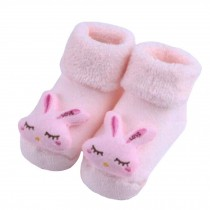 2 Pairs of Cozy  Baby Cotton Socks Baby Gifts Comfortable Socks Heartwarming Baby Gifts, cute rabbit