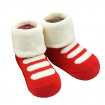 2 Pairs of Cozy  Baby Cotton Socks Baby Gifts Comfortable Socks Heartwarming Baby Gifts,0-1years