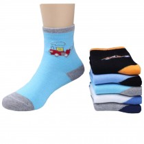 5 Pairs of Cozy kids Cotton Socks Children  Gifts Comfortable Socks,5-6years??Car