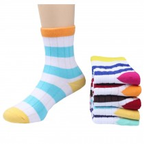 5 Pairs of Cozy kids Cotton Socks Children  Gifts Comfortable Socks,stripe??5-6years