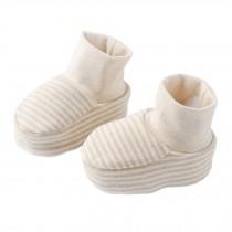 1 Pair Pure Cotton Unisex Newborn Baby Socks Warm Foot Socks, B