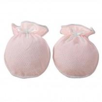 Cute Bbowknot Baby Gloves Newborn Mittens Soft No Scratch Mittens, Pink