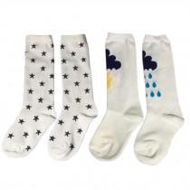 2 Pair Cute Baby's Cotton Tube Stockings Anti-mosquito Summer Thin Socks-No.1