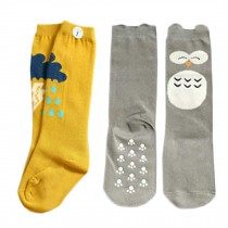 2 Pair Cute Baby's Cotton Tube Stockings Anti-mosquito Summer Thin Socks-No.16