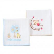 Set of 2 Baby Handkerchiefs Small Squares Gauze Cloth Handkerchief,Bear