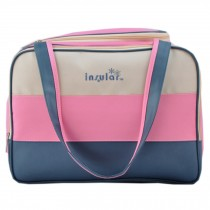 Colorful Big Capacity Functional Diaper Bags For Mummy Pink (30*39*21cm)