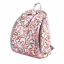 Fashionable High-Capacity Diaper Bag Baby Items Bag Mommy Backpack-Pink