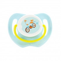 Lovely Cartoon Free Nighttime Infant Pacifier, Bicycle,Blue