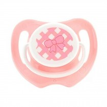 Lovely Cartoon Free Nighttime Infant Pacifier, Bow,Pink