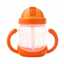 Leakproof Trainer Cup Silicon Sippy Cups BPA FREE ,Orange