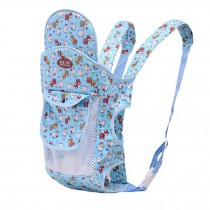 Four Position Baby Carrier with Great Back Support With Net (Light Blue)